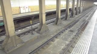 地下駅なのに珍しくバラストが敷かれている阪急西院駅(走行動画付き)