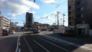 西大路三条駅[嵐電](京都市右京区)~ホームと電停が混在する珍しい構造と、京都に唯一残る路面電車の走行風景が楽しめる専用・併用軌道の境界点~