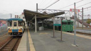 貴生川駅[JR西日本・SKR](滋賀県甲賀市)~近江鉄道との接続廃線跡の哀愁感と県内唯一の気動車も堪能できる、魅力満載の3線終結ターミナル~