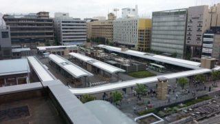京都駅前停[京都市バス・京都・京阪・JRバス](京都市下京区)~旧市電の路線網を引き継ぎ、市内全域への交通の基点となる京都最大のバスターミナル~